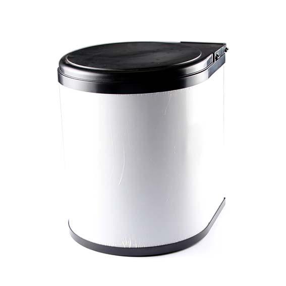 14L CABINET SWING BIN STAINLESS STEEL/BLACK 400 UNIT