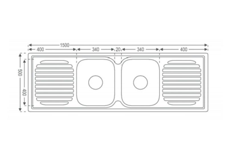 Double Center Sink diagram