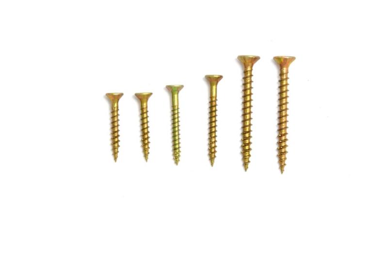 Chipboard screw sizes