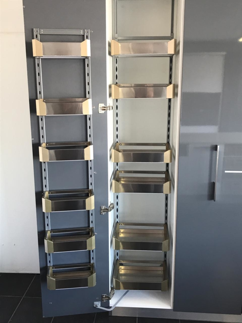Chrome Pantry Pull-out 6-Layer Double Rack