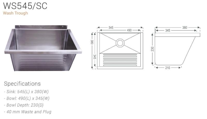 Wash Trough (545mm × 380mm)